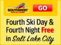 Get your fourth ski day and fourth night FREE in Salt Lake City when you book a flight + hotel vacation package for four nights or more. Book 11/19 - 12/9.