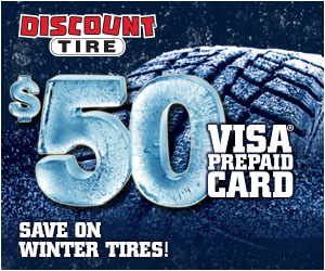 DT_Get a $50 Visa Prepaid Card by mail with the purchase of 4 winter tires. Expires 3/31/15.