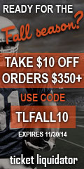Receive $10 off orders of $350 or more at Ticket Liquidator!