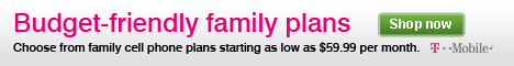 Choose from family cell phone plans starting as low as $59.99 per month.