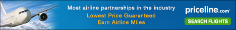 Book ANY published price domestic or international flight you can find on priceline and you won't pay a single penny on booking fees.
