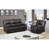 Walton Brown Leather Motorized Reclining Sofa and Glider/Recliner @ Overstock.com