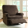 Ella Brown Fabric Nursery Swivel Glider Recliner Chair @ Overstock.com