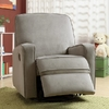 Colton Gray Fabric Modern Nursery Swivel Glider Recliner Chair @ Overstock.com