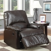 Brown Split-back Vinyl Upholstered Glider Recliner @ Overstock.com