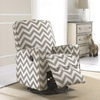 Crawford Taupe and Cream Fabric Modern Nursery Swivel Glider Recliner Chair @ Overstock.com