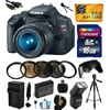 Canon EOS Rebel T3i Digital SLR Camera with EF-S 18-55mm f/3.5-5.6 IS Lens with 16GB Memory, Flash, Battery, Charger, Lens Hood, 5 PC Filters, Grip Strap, Cleaning Kit, $50 Gift Card 5169B003 @ Walmart.com